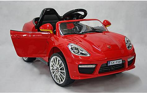 image of Kids Electric Car Luxury SUV 12 Volt Red Gloss