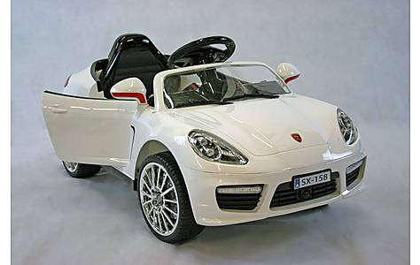 image of Kids Electric Car Luxury SUV 12 Volt White Gloss