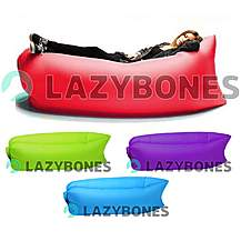 image of Lazy Bones Red Portable Air Sofa / Chair For Parks, Gardens, Festivals & Camping