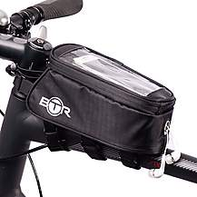 image of BTR Bike Bag Phone Holder - Water Resistant Bicycle Bag. Black. Fits ALL Bikes