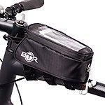 image of BTR Bike Bag Phone Holder - Water Resistant Bicycle Bag. Black. Fits ALL Bikes