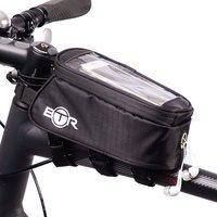BTR Bike Bag Phone Holder - Water Resistant Bicycle Bag. Black. Fits ALL Bikes