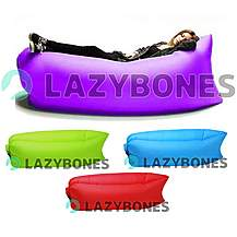 image of Lazy Bones Purple Portable Air Sofa / Chair For Parks, Gardens, Festivals & Camping