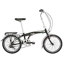 image of Indigo Flip 7, Folding Bike, 7 Speed, Unisex, Black