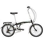 image of Indigo Flip 7, Folding Bike, 7 Speed, Unisex, Black