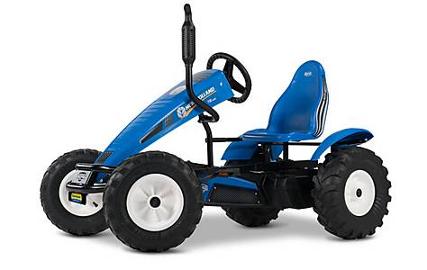 image of BERG New Holland BFR Tractor Pedal Go Kart - Blue