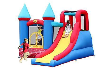 image of Duplay Red Bricks KidsBouncy Castle with slide 9007