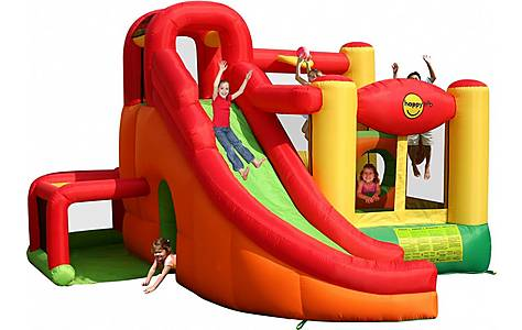 image of 11 in 1 Inflatable Play Centre Bouncy Castle with Slide