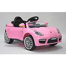 image of Kids Electric Car Luxury SUV 6 Volt Pink