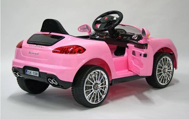 kids electric car luxury suv 6 volt pink