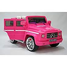 image of Kids Electric Car Mercedes Benz G55 12 Volt Pink