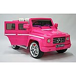 image of Kids Electric Car Mercedes Benz G55 12 Volt Pink
