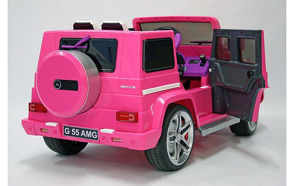 kids electric car mercedes benz g55 12 volt pink