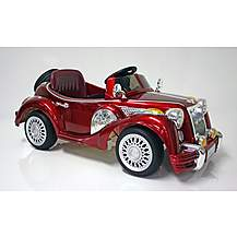 image of Kids Electric Car Vintage Sports Car 12 Volt Red Gloss