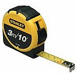 image of Stanley Retractable Tape Measure with Belt Clip 3 Metre 0-30-686