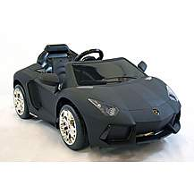 image of Kids Electric Car Lamborghini Aventador 12 Volt Black Matte