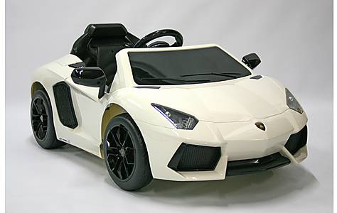 image of Kids Electric Car Lamborghini Aventador 12 Volt White Gloss