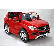 image of Kids Electric Car Mercedes Benz M Class Twin Seat 12 Volt Red Gloss