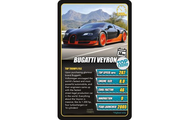 Trumps Sport Cars Card Game - Sports cars top trumps