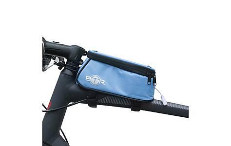image of BTR Bike Frame Bag With Mobile Phone Pocket. Water Resistant. Blue