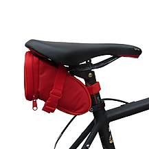 image of BTR Bike Saddle Wedge Pack Storage Bag. Water Resistant. Red