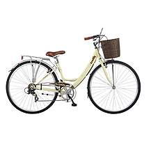 image of 19in Viking Picadilly 7 Speed, 700c Ladies Ivory Hybrid Shopping Bike