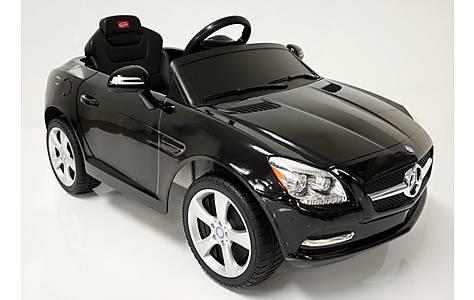 image of Kids Electric Car Mercedes Benz SLK 6 Volt Black Gloss