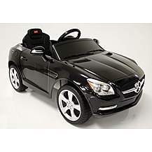 image of Kids Electric Car Mercedes Benz SLK 6 Volt Black Gloss