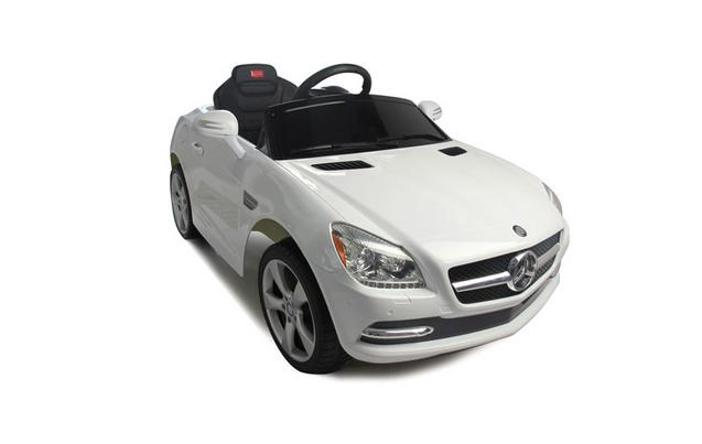 kids electric car mercedes benz slk 6 volt white gloss