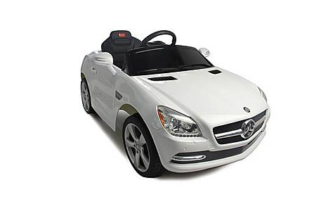 image of Kids Electric Car Mercedes Benz SLK 6 Volt White Gloss