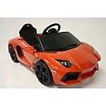 image of Kids Electric Car Lamborghini Aventador 6 Volt Orange Gloss