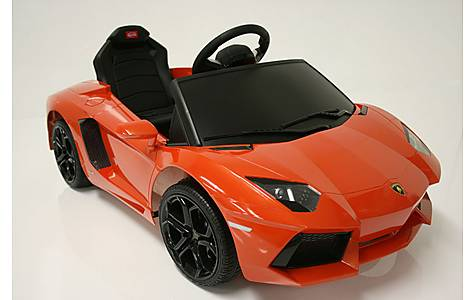 image of Kids Electric Car Lamborghini Aventador 6 Volt Orange Gloss