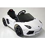 image of Kids Electric Car Lamborghini Aventador 6 Volt White Gloss