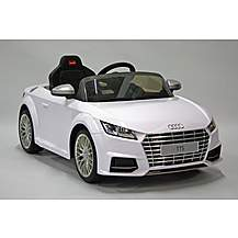image of Kids Electric Car Audi TTS 12 Volt White Gloss
