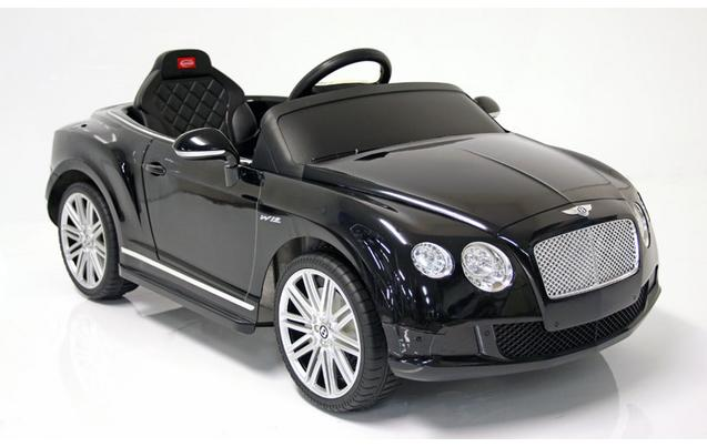 kids electric car bentley continental gt 12 volt black gloss