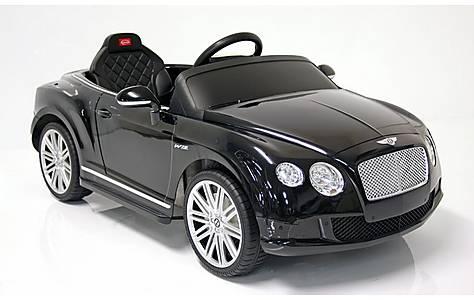 image of Kids Electric Car Bentley Continental GT 12 Volt Black Gloss