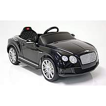 image of Kids Electric Car Bentley Continental GT 12 Volt Black Gloss