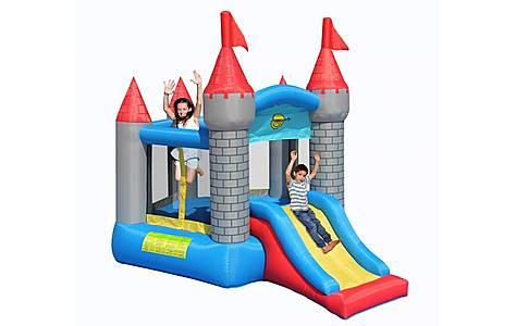 image of Medievil Pentagon Bouncy Castle With Slide
