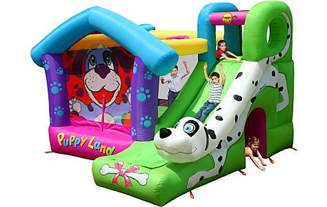 image of Puppy Land Bouncy Castle With Slide