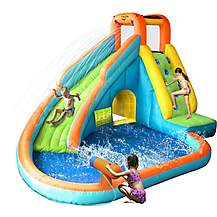 image of Inflatable Waterslide With Paddling Pool And Water Cannon
