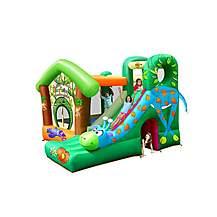image of Jungle Fun Bouncy Castle With Giraffe Slide