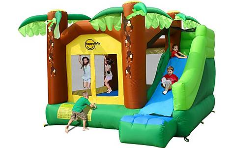 image of Jungle Climb And Slide Bouncy Castle