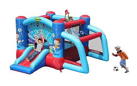 image of Garden Bouncy Castle With Football Goal
