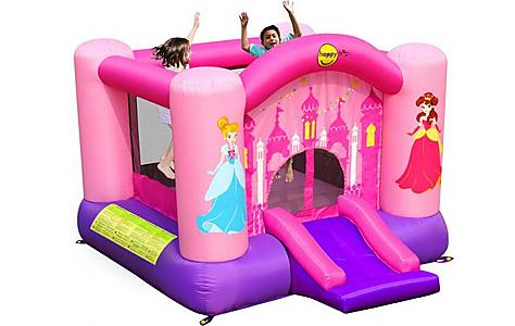 image of Princess Slide And Hoop Bouncy Castle