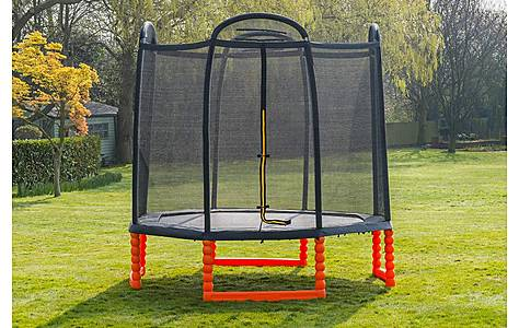 image of Duplay 10ft Black Edition Trampoline With Air Pro Safety Net