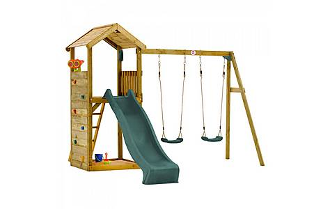 image of Plum Wooden Lookout Tower With Swings