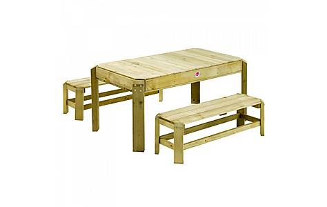 image of Plum Premium Wooden Activity Table And Benches
