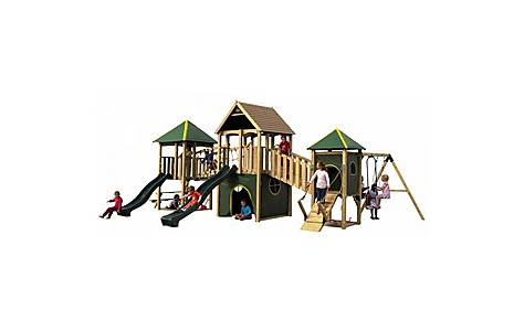 image of Plum Wildebeest Large Wooden Play Centre