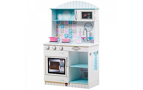 image of Plum Snowdrop Interactive Wooden Play Kitchen