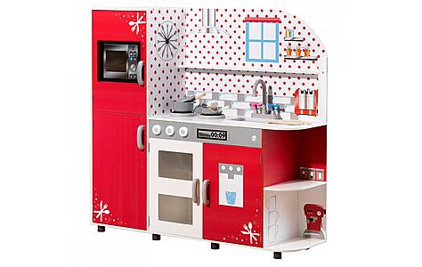 image of Plum Cookie Interactive Wooden Play Kitchen